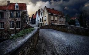 Picture twilight, Belgium, Bruges, Bruges