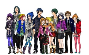 Picture anime, art, characters, students, Toradora!