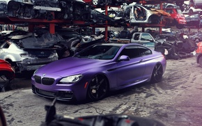 Picture BMW, BMW, dump, purple, purple
