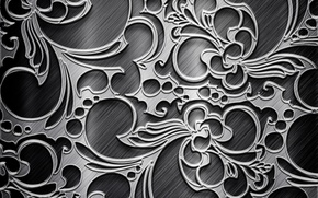 Picture grey, background, patterns, texture, silver, metallic