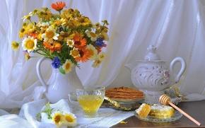 Wallpaper flowers, still, wild, sweets, life, summer, honey