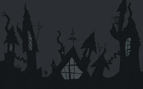 Wallpaper home, shadow, Halloween, Halloween
