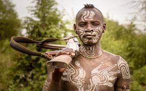 Picture Ethiopia, Omo wally, Mursi warrior