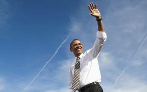 Picture smile, man, President, Barack Obama, policies