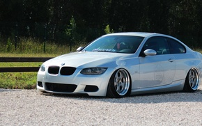 Picture bmw, BMW, turbo, wheels, tuning, power, front, face, germany, low, e92, stance