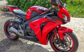 Picture motorcycles, Moto, red, honda, moto, cbr1000rr, fireblade
