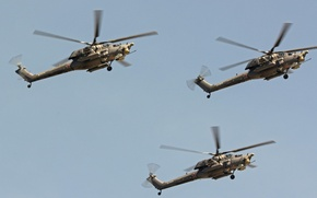 Picture flight, shock, helicopters, Mi-28