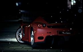 Picture Ferrari, Enzo, night, Supercar