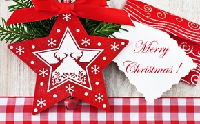 Picture branch, merry christmas, bow, tree, deer, asterisk, the envelope