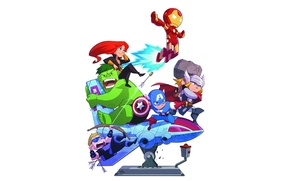 Picture Iron Man, The Hulk, Black Widow, Hawkeye, background, Marvel Comics, The Avengers, Captain America, Thor