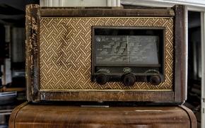 Wallpaper background, radio, receiver
