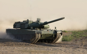 Picture dust, tank, combat, rides, promising, main, Altay, Turkish