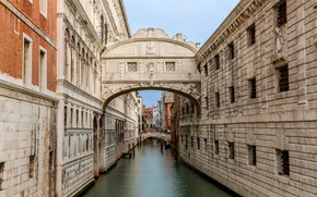 Picture the sky, Italy, Venice, the Doge's Palace, the bridge of Sighs, Palace channel