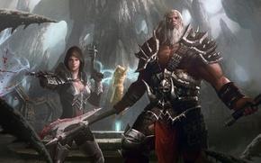 Picture Diablo 3, archangel, demon hunter, Barbarian