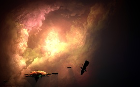 Wallpaper the game, Jade Taggart, ships, station, drone, space, nebula, Homeworld