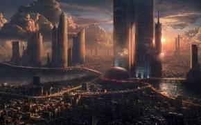 Picture city, future, space