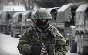 Picture mask, soldiers, machine, helmet, Russia, Crimea, military, Republic, Balaclava, Sevastopol, polite people, airborne