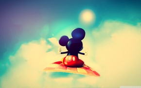 Picture flight, Mickey mouse, cute mickey mouse, red pants