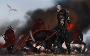 Picture wolf, witcher, geralt, The Witcher 3: Wild Hunt, The Witcher 3: Wild Hunt, geralt of …