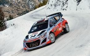 Picture Hyundai, WRC, Snow, Rally, Monte Carlo, i20, 2015, Sordo