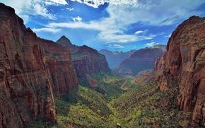 Picture Utah, Zion National Park, Zion national Park, canyon Zion, river VA