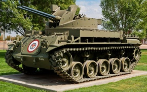 Picture 40 mm, self-propelled gun, Duster, M42A1, anti-aircraft gun, Paired