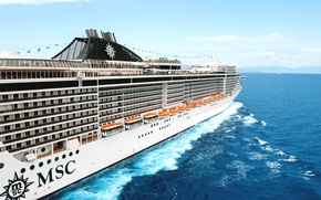 Picture Sea, White, Liner, Board, Case, Day, The ship, Passenger, Splendida, MSC, Boat, On The Go, …