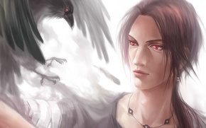 Picture art, guy, Raven, Naruto, Uchiha Itachi