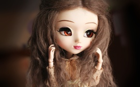 Picture eyes, face, doll, large
