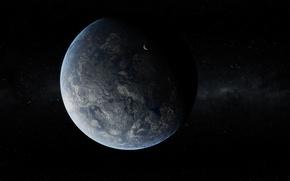 Picture Stars, Planet, Satellite, Relief