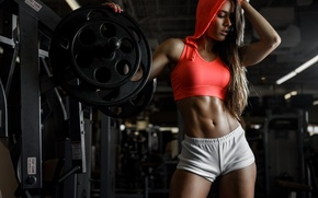 Picture figure, Valentina, trainer, the gym, sports style