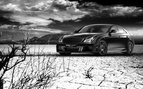 Picture Mercedes-Benz, CLS, Brabus, Design, Black, Rocket, Waste