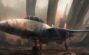 Wallpaper the plane, Leon Tukker, Junkyard jet
