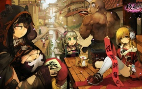 Picture holiday, China, the game, new year, anime, art, character