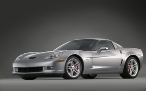 Wallpaper Z06, silver, Corvette