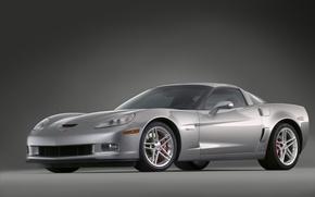 Wallpaper Z06, Corvette, silver