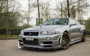 Picture nissan, skyline, gtr, parking