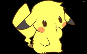 Picture yellow, surprise, Pikachu, pokemon, pokemon, Pikachu