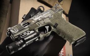 Wallpaper gun, weapons, Glock 17, Austrian, self-loading