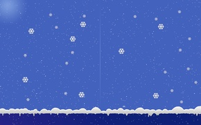 Picture snowflakes, background, new year
