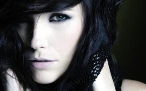 Picture eyes, face, eyelashes, crystals, Sophia Bush