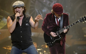 Picture guitar, guitar, ac/dc, angus young, braian johnson, Brian Johnson, Angus young