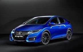 Picture car, Honda, blue, Sport, Civic, Paris Motor Show