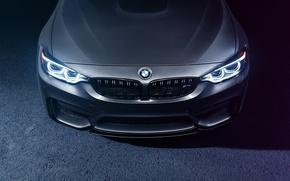Picture BMW, Light, Car, Front, Bridge, Parking, Mode, Carbone