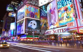 Picture night, lights, advertising, new York, times square