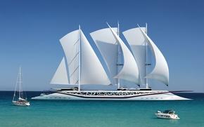 Picture sea, concept, boat, Phoenicia, yacht Phoenicia