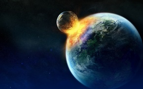 Picture crash, space, planet