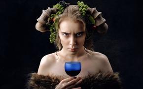 Picture girl, emotion, Revenge, Lena Korovashkina