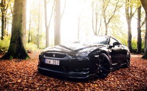 Picture black, GTR, Nissan, sports car, black, Nissan