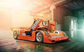 Picture Orange, 956, Porsche, Cars, The Mans, Track, Day